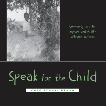 Speak for the Child - Consultative Group on Early Childhood Care ...