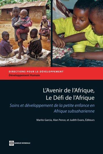 L'Avenir de l'Afrique, Le Défi de l'Afrique - Consultative Group on ...