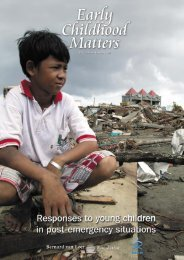 Responses to young children in post-emergency situations