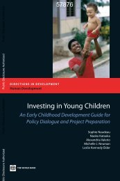 Investing in Young Children - Consultative Group on Early ...