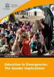Education in Emergencies: The Gender Implications - INEE