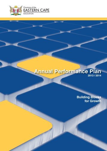Annual Performance Plan 2013/14 - Department of Education
