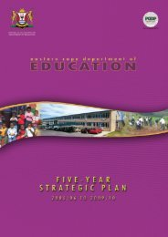 5 Year Strategic Plan 2005/06 - Department of Education