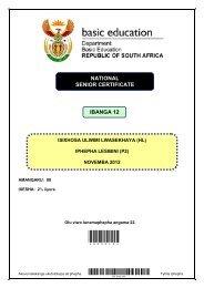 Isixhosa HL Paper 2 2012