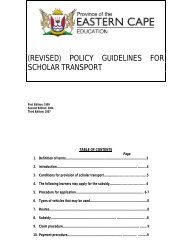 (REVISED) POLICY GUIDELINES FOR SCHOLAR TRANSPORT