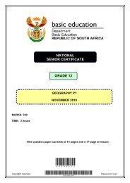 NATIONAL SENIOR CERTIFICATE GRAAD 12 GRADE 12