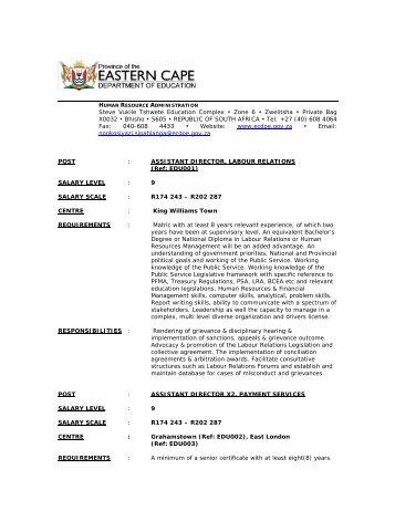 Steve Vukile Tshwete Education Complex • Zone 6 • Zwelitsha ...