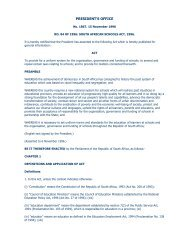 South African Schools Act - Department of Basic Education