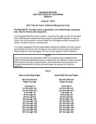 REVISION RECORD FOR THE STATE OF CALIFORNIA ... - iapmo