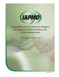 National Personnel Certification Program For Inspectors ... - iapmo