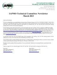 2013 Technical Committee Newsletter[1] - iapmo