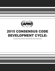 2015 Consensus Code Development Cycle Booklet - iapmo