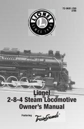 Operating your locomotive - Lionel