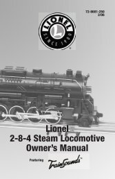 Operating your locomotive - Lionel