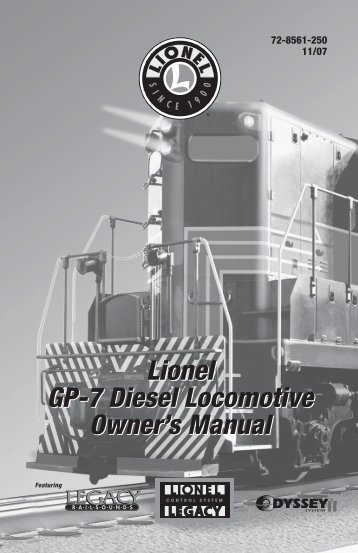 LEGACY Control System operations - Lionel
