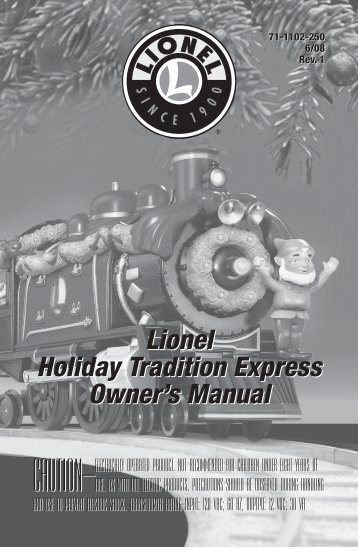 Lionel Holiday Tradition Express Owner's Manual Lionel Holiday ...