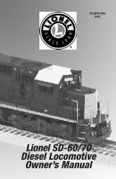 Maintaining and servicing your locomotive - Lionel