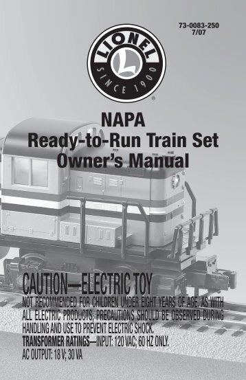 73-0083-250 - 7/07 - Lionel Trains