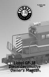 GP-38 Diesel Locomotives - Lionel