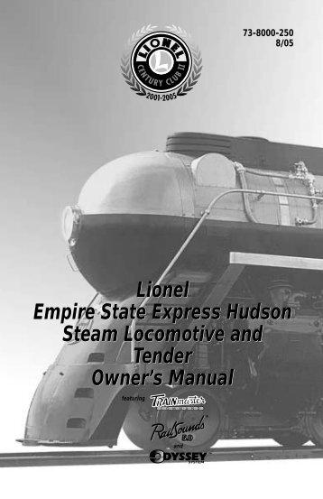73-8000-250 ESE Hudson - Lionel Trains