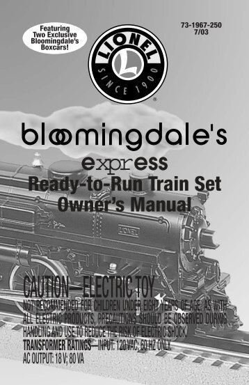 Bloomingdale's Express Train Set - Lionel