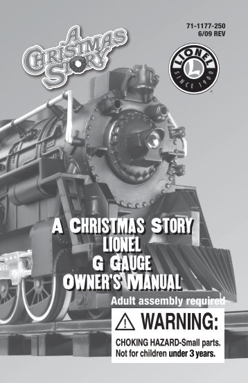A Christmas Story lionel G Gauge Owner's Manual A Christmas ...
