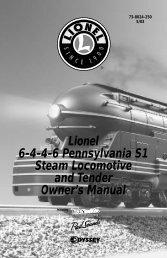 Lionel 6-4-4-6 Pennsylvania S1 Steam Locomotive and Tender ...