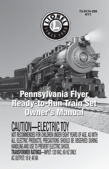 73-0174-250 Pennsylvania Flyer.indd - Lionel