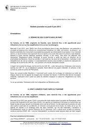 Police Bulletin journalier du jeudi 6 juin 2013 ... - Romandie.com