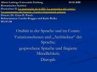 Präsentation Brugger/Weller - Romanisches Seminar - Albert ...
