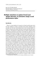 Multiple retractions in spoken French and spoken German. A ...