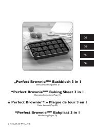 """""""Perfect Brownie™"""" Backblech 3 in 1 """"Perfect Brownie ... - M6 Boutique"""