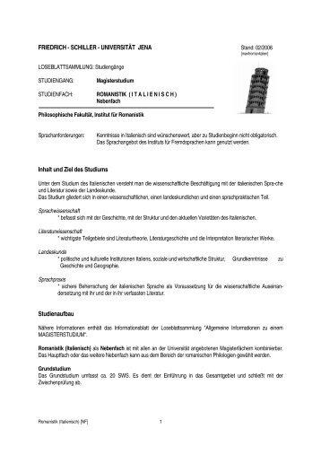 LB Italienisch NF - Institut für Romanistik - Friedrich-Schiller ...
