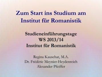 Schlüsselqualifikation - Institut für Romanistik