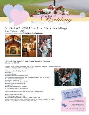 Viva Las Vegas Elvis Weddings - Romantic Planet Vacations