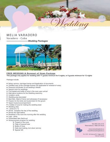CUBA - Melia Varadero - Romantic Planet Vacations