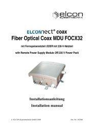 102386 Kurzbedienungsanleitung FOCX32 ... - Elcon Systemtechnik