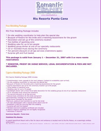 Riu Resorts Punta Cana - Romantic Planet Vacations