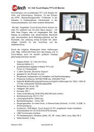 12,1 Zoll Touch-Display TFT-LCD Monitor Hochwertiges ... - Rombus