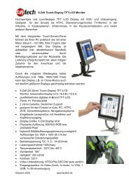 8 Zoll Touch-Display TFT-LCD Monitor Hochwertiges und ... - Rombus