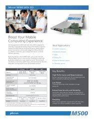 M500 Client Solid State Drive (SSD) Product Brief - Micron