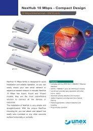 NexHub 10 Mbps - Compact Design - Rombus