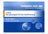 LTO-5 Die günstigste Art der Archivierung - Rombus