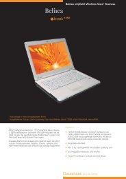 Belinea empfiehlt Windows Vista® Business. Datasheet ... - Rombus