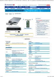 Supermicro | Products | SuperServers | 2U | 6027TR ... - Rombus