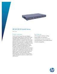 HP A5120 SI Switch Series Data sheet - Серверы HP Proliant