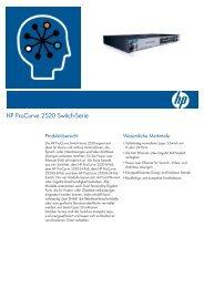 HP ProCurve 2520 Switch-Serie - Distrelec