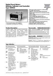 Digital Panel Meters Modular Indicator and Controller Type UDM35