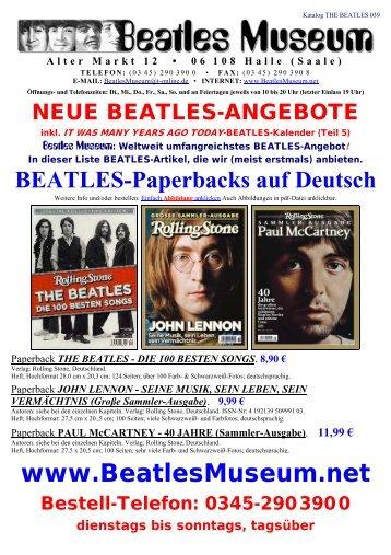 Beatles Museum - Katalog 39 mit Hyperlinks
