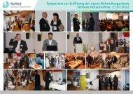 Symposium zur Eröffnung der neuen ... - RoMed Kliniken